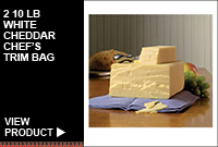 2/10LB WHITE CHEDDAR CHEF'S TRIM BAG