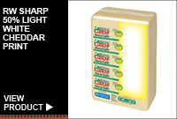 RW SHARP 50% LIGHT WHITE CHEDDAR PRINT