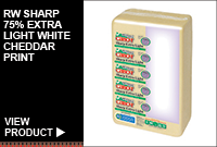 RW SHARP 75% EXTRA LIGHT WHITE CHEDDAR PRINT