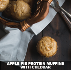 Apple Pie Protein Muffins with Cheddar