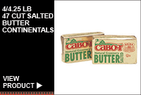 4/4.25LB 47 CUT SALTED BUTTER CONTINENTALS