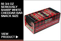 50/3/4OZ SERIOUSLY SHARP WHITE CHEDDAR BAR-SNACK SIZE
