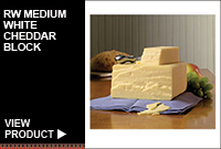 RW MEDIUM WHITE CHEDDAR BLOCK