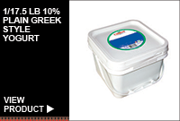 1/17.5LB 10% PLAIN GREEK STYLE YOGURT